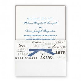 Forever Love Wedding Invitations - LIMITED STOCK AVAILABLE