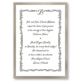 Initial Accent Wedding Invitations - LIMITED STOCK ON HAND