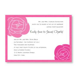 Fresh Blooms Wedding Invitations