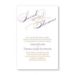 Gloriously Noteable Letterpress Wedding Invitations - LIMITED STOCK AVAILABLE