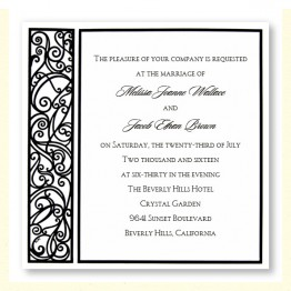 Graceful Black & White Wedding Invitations - LIMITED STOCK AVAILABLE