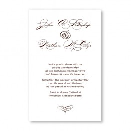 Gracious Elegance Letterpress Wedding Invitations