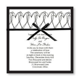 Hearts Aflutter Wedding Invitations