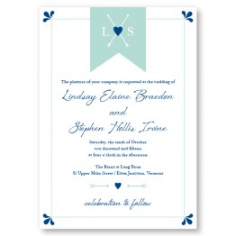 Hearts and Arrows Wedding Invitations