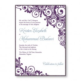 Henna 2-Layer Wedding Invitations