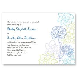 Hydrangea Bloom Wedding Invitations
