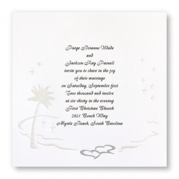 Island Romance Wedding Invitations
