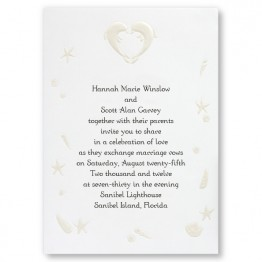 Kissing Dolphins Wedding Invitations