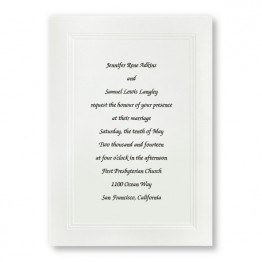 Large Social Graces Wedding Invitations