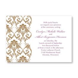 Lavish Border Horizontal Wedding Invitations