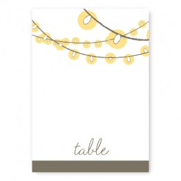 Luster Table Cards