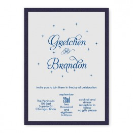 Macy 2-Layer Thermography Wedding Invitations