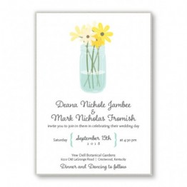 Mason Jar 2-Layer Wedding Invitations
