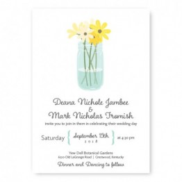 Mason Jar Wedding Invitations