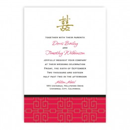 May Wedding Invitations - Real Foil Wedding Invitations!