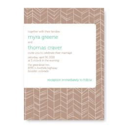Modern Feather Wedding Invitations