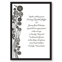Modern Swirled Hearts Wedding Invitations