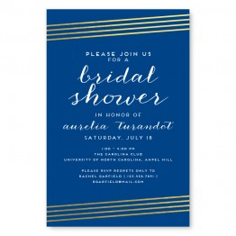 Moonlight Foil Bridal Shower Invitations