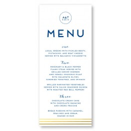 Moonlight Foil Menu Cards