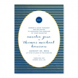 Moonlight Foil Wedding Invitations