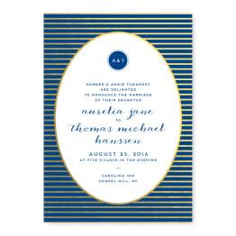 Moonlight Foil Wedding Invitations