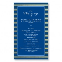 Moonlight Foil Wedding Program
