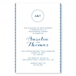 Moonlight Rehearsal Dinner Invitations