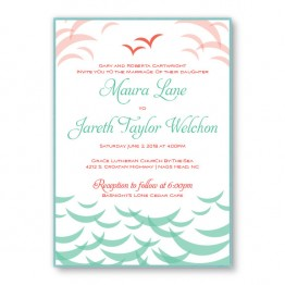 Ocean 2-Layer Wedding Invitations