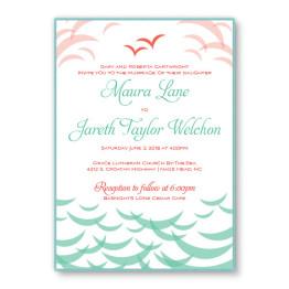 Ocean 2-Layer Wedding Invitations