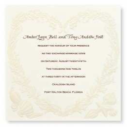 Ocean Treasures Wedding Invitations - LIMITED STOCK ON HAND