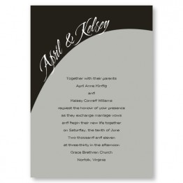 One Accord Wedding Invitations