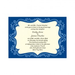 Ornamental Border Wedding Invitations