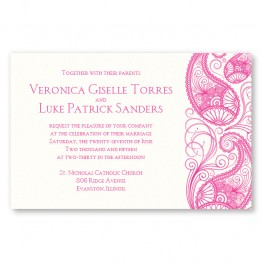 Paisley Garden Thermography Wedding Invitations
