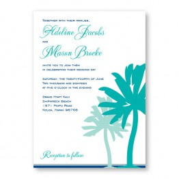 Palm Wedding Invitations
