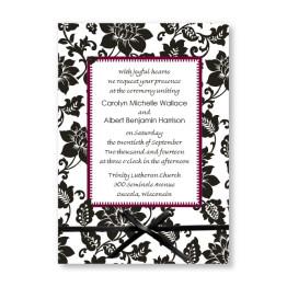 Passionate Blooms Wedding Invitations