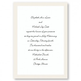 Pearl Border Wedding Invitations