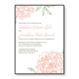 Peony 2-Layer Wedding Invitations