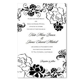 Peony Garden Wedding Invitations