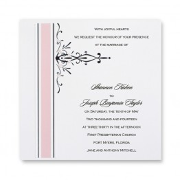 Petal Pink Wedding Invitations