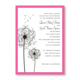 Pick a Posy Wedding Invitations