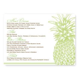 Pineapple Menu Cards