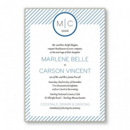 Pinstripe 2-Layer Wedding Invitations