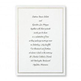 Platinum Border Wedding Invitations