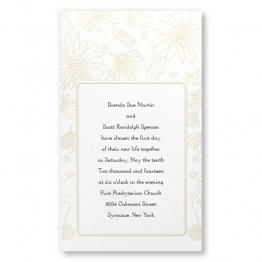 Playful Daisies Wedding Invitations