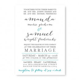 Posh Wedding Invitations