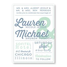 Poster Wedding Invitations