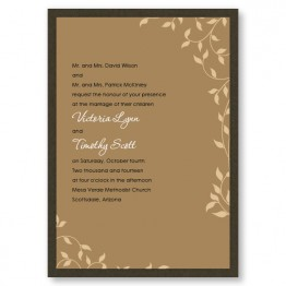 Pretty Vines II Wedding Invitations