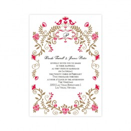 Regal Border Wedding Invitations