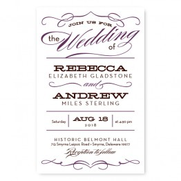 Retro Letterpress Wedding Invitations