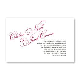 Richly Formal Letterpress Wedding Invitations
